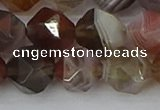 CAA1010 15.5 inches 12mm faceted nuggets botswana agate beads
