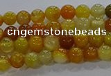 CAA1040 15.5 inches 4mm round dragon veins agate beads wholesale
