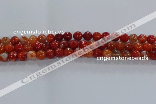 CAA1048 15.5 inches 10mm round dragon veins agate beads wholesale