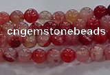 CAA1050 15.5 inches 4mm round dragon veins agate beads wholesale
