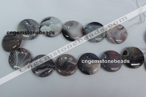 CAA108 15.5 inches 35mm coin botswana agate gemstone beads