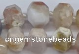 CAA1116 15.5 inches 13*18mm - 15*20mm faceted nuggets sakura agate beads
