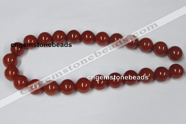 CAA115 15.5 inches 16mm round red agate gemstone beads wholesale