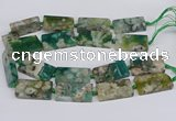 CAA1169 15.5 inches 22*40mm rectangle sakura agate gemstone beads