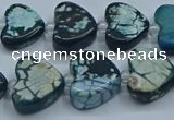 CAA1189 15.5 inches 16mm - 18mm heart dragon veins agate beads