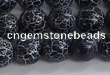 CAA1212 15.5 inches 10mm round frosted agate beads wholesale