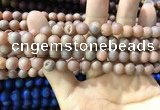 CAA1293 15.5 inches 8mm round matte plated druzy agate beads