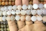 CAA1446 15.5 inches 14mm round matte druzy agate beads