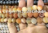 CAA1449 15.5 inches 14mm round matte druzy agate beads