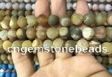 CAA1450 15.5 inches 14mm round matte druzy agate beads