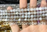 CAA1531 15.5 inches 6mm round banded agate beads wholesale