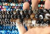 CAA1539 15.5 inches 10mm round banded agate beads wholesale