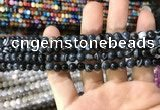 CAA1542 15.5 inches 4mm round banded agate beads wholesale