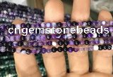 CAA1554 15.5 inches 4mm round banded agate beads wholesale