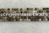 CAA1820 15.5 inches 4mm round banded agate gemstone beads