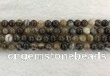 CAA1822 15.5 inches 8mm round banded agate gemstone beads