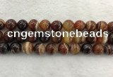 CAA1865 15.5 inches 14mm round banded agate gemstone beads