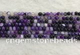 CAA1870 15.5 inches 4mm round banded agate gemstone beads