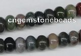 CAA193 15.5 inches 7*10mm rondelle indian agate beads wholesale