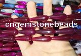CAA2073 15.5 inches 10*30mm teardrop agate beads wholesale