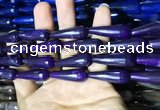 CAA2096 15.5 inches 10*30mm faceted teardrop agate beads
