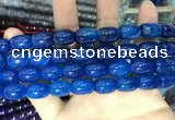 CAA2122 15.5 inches 10*14mm drum agate beads wholesale
