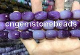 CAA2146 15.5 inches 13*18mm faceted drum agate beads wholesale