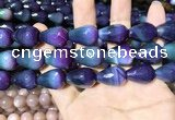CAA2165 15.5 inches 15*20mm faceted teardrop agate beads