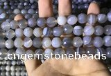 CAA2194 15.5 inches 12mm faceted round banded agate beads