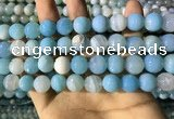 CAA2246 15.5 inches 12mm faceted round banded agate beads