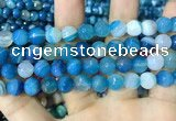 CAA2254 15.5 inches 14mm faceted round banded agate beads