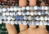 CAA2997 15 inches 8mm faceted round fire crackle agate beads wholesale