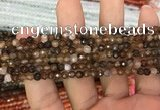 CAA3269 15 inches 4mm faceted round agate beads wholesale