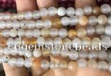 CAA3301 15 inches 6mm faceted round agate beads wholesale
