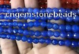CAA3307 15 inches 6mm faceted round agate beads wholesale