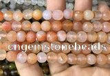 CAA3344 15 inches 8mm faceted round agate beads wholesale