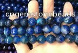 CAA3407 15 inches 12mm faceted round agate beads wholesale