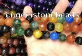 CAA3413 15 inches 12mm faceted round agate beads wholesale