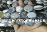 CAA3567 15.5 inches 18*25mm oval grey Botswana agate beads