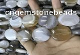 CAA3568 15.5 inches 22*30mm oval grey Botswana agate beads