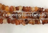 CAA3808 15.5 inches 10*14mm - 12*16mm faceted nuggets red agate beads