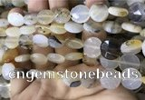 CAA3831 15.5 inches 12mm faceted coin montana agate beads