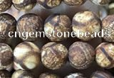CAA3845 15 inches 6mm round tibetan agate beads wholesale