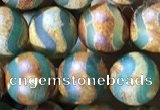 CAA3880 15 inches 8mm round tibetan agate beads wholesale