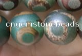 CAA3908 15 inches 10mm round tibetan agate beads wholesale