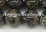 CAA4037 15.5 inches 12mm round chrysanthemum agate beads