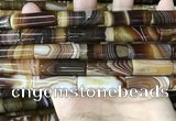CAA4181 15.5 inches 10*30mm tube line agate beads wholesale
