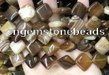 CAA4234 15.5 inches 16*16mm diamond line agate beads wholesale