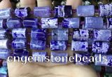 CAA4241 15.5 inches 10*14mm - 11*15mm tube dragon veins agate beads