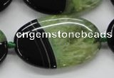 CAA444 15.5 inches 30*40mm oval agate druzy geode gemstone beads